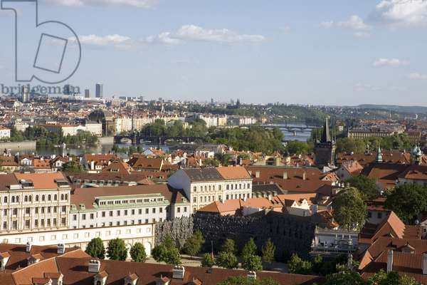 View of the river Vltava in Prague, Czech Republic. Photography 2009