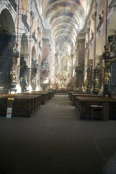 Interior of the Prewatches monastery in Prague, Czech Republic.