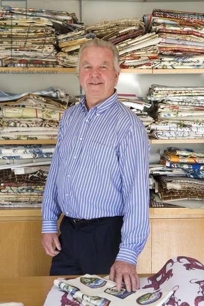Portrait of Pierre Frey, textile publisher and businessman.