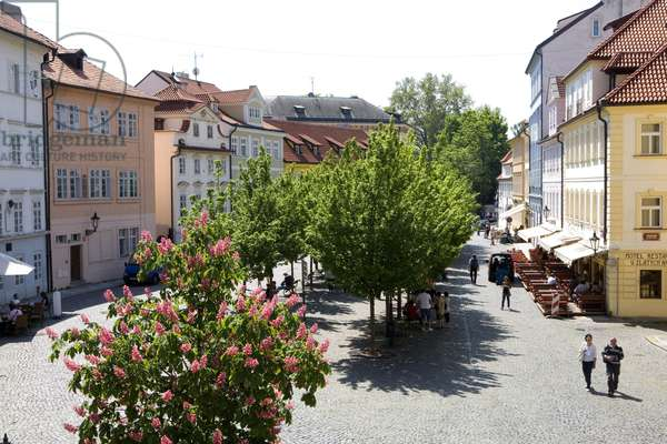 Square in a street in Prague, Czech Republic. Photography 2009
