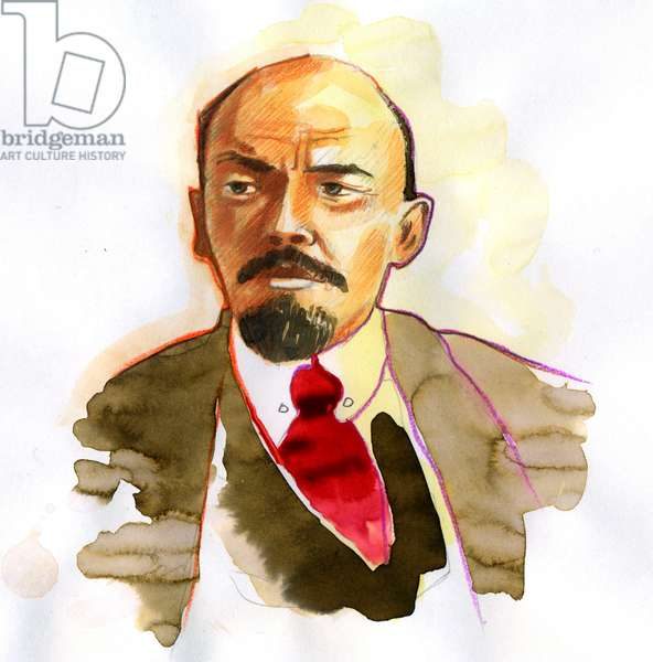 Portrait of Vladimir Lenin (Lenin) (1870-1924), Russian politician and revolutionary