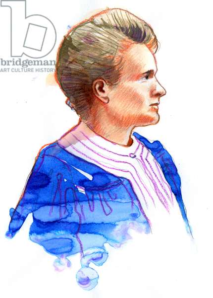 Portrait of the physicist Marie Curie (Marie Curie (1867-1934), Polish-born French physicist)