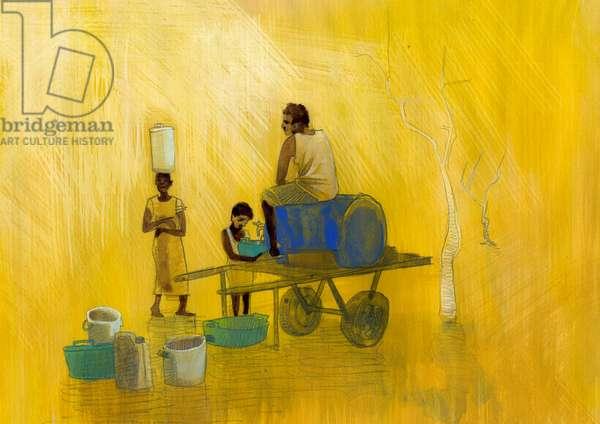 Water shortage Illustration by Alessandro Lonati