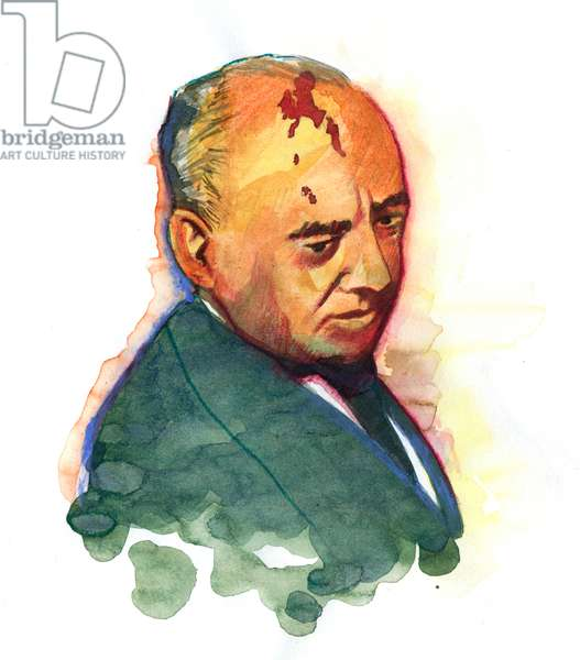 Portrait of Mikhail Gorbachev (Gorbachev or Gorbachev) (born in 1931) Russian politician