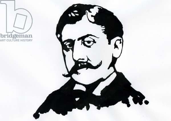 Portrait of the French writer Marcel Proust (1871-1922) (Portrait of english writer Marcel Proust)