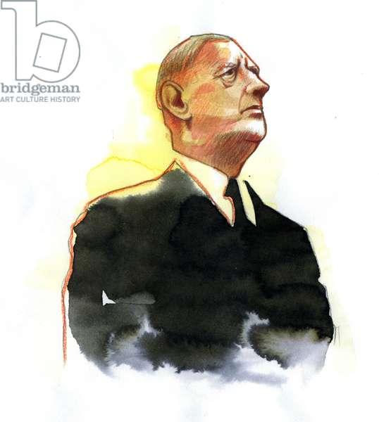 Portrait of General Charles de Gaulle (1890-1970) President 1961