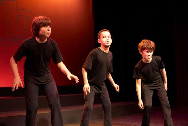 Young actors dancing
