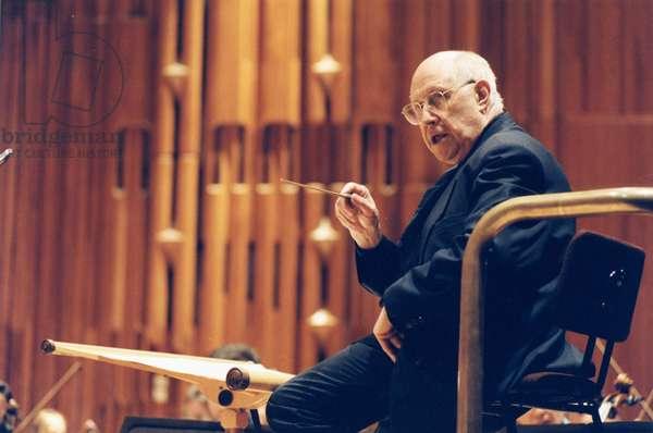 Mistislav (Mstislav) Rostropovich conducting