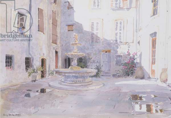 After Rain, Tourrette, 1993 (w/c on paper)
