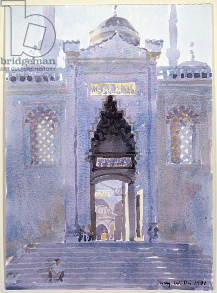 Gateway to The Blue Mosque, 1991 (w/c on paper)