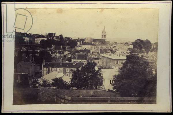 France, Champagne-Ardenne, Haute-Marne (52), Bourbonne les bains: The small town of Bourbonne les bains, 1870 - The new bookseller