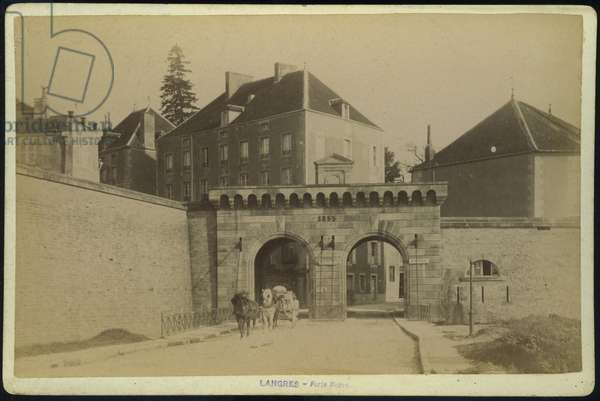 France, Champagne-Ardenne, Haute-Marne (52), Langres: The new door dating from 1855, 1880