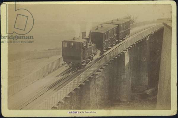 France, Champagne-Ardenne, Haute-Marne (52), Langres: Railway train, 1887