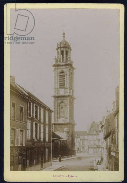 France, Champagne-Ardenne, Haute-Marne (52), Langres: Photography of the church of Saint Martin (13th century), 1885