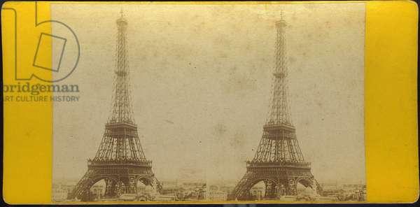 France, Ile-de-France, Paris (75): World Exhibition, the Eiffel Tower, 1889