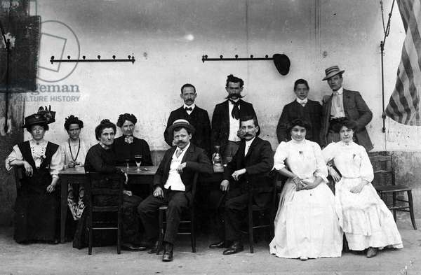 France, Champagne-Ardennes, Aube (10): the Flageolet family in their hotel, 1910
