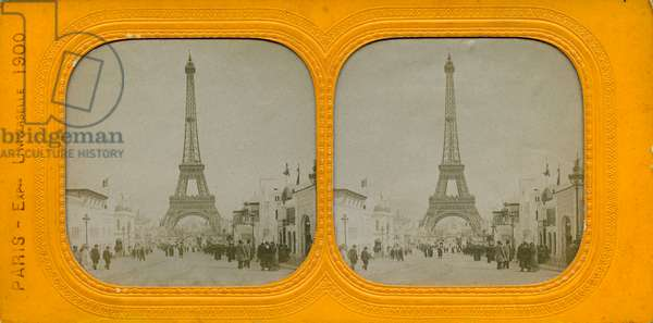 France, Ile-de-France, Paris (75): The Eiffel Tower at the 1900 World Exhibition