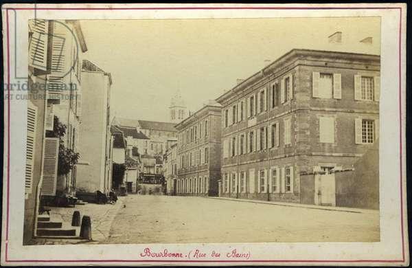 France, Champagne-Ardenne, Haute-Marne (52), Bourbonne les bains: The small town of Bourbonne les bains, 1865