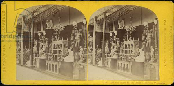 France, Ile-de-France, Paris (75) : Exposition Universelle, stand des fontes d'art du Val d'Osne, 1867
