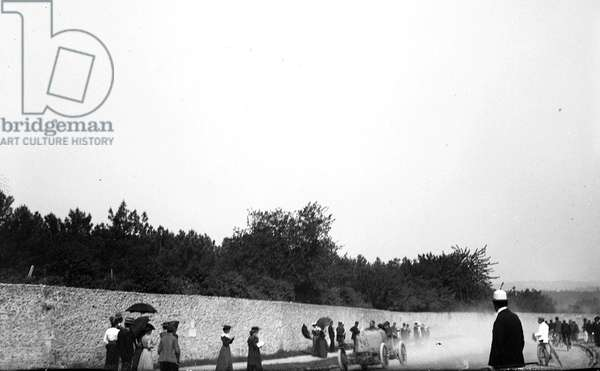 France, Centre, Indre-et-Loire (37), Tours: 31 May 1903, Paris/Madrid race, Montee de l'alouette, 1903 - crew fournier, car 203 Mors