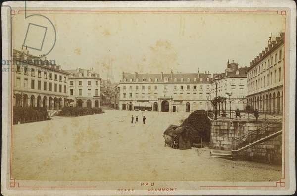 France, Aquitaine, Pyrenees-Atlantiques (64), Pau: Place Gramont, 1885