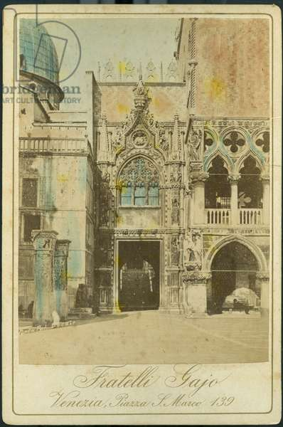 Venice: The entrance to the Doge's Palace, 1885