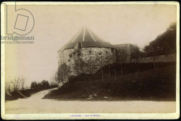 France, Champagne-Ardenne, Haute-Marne (52), Langres: The Tower of Navare and Orvazl (1512-1519), 1880