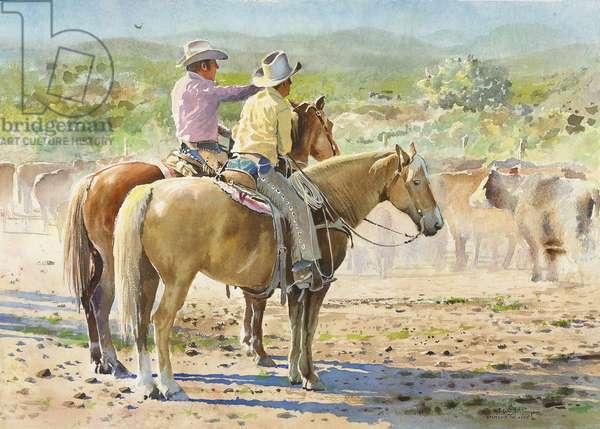 Splitting the Herd (w/c on paper)