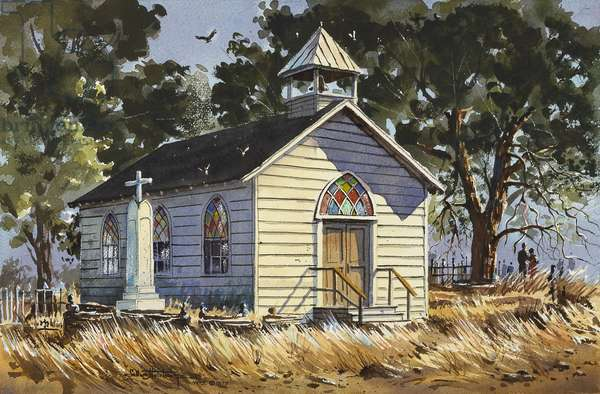 Country Church (w/c on paper)