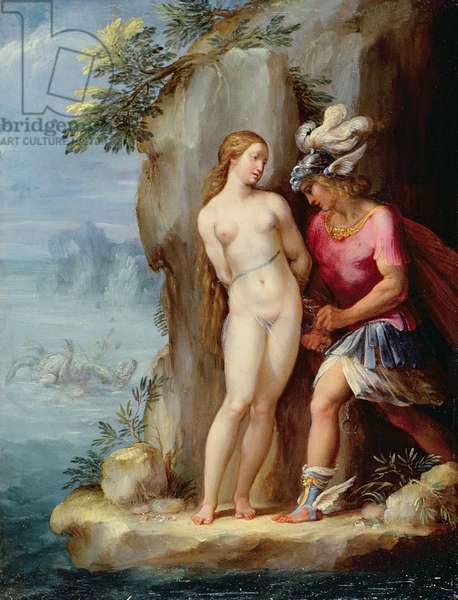 Perseus Rescuing Andromeda (oil on copper)