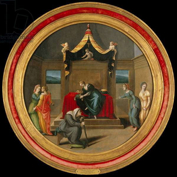 Ghismonda with the Heart of Guiscardo, 1520s (oil on wood)