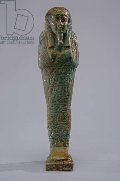 Ushabti, 688-343 BC (Egyptian faience)