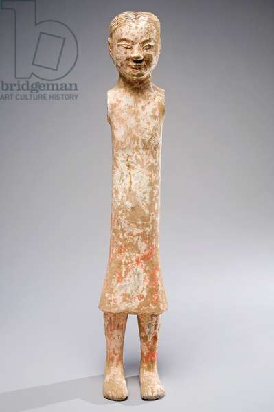 Skirted male stick figure, early to mid 2nd century BC (pottery)