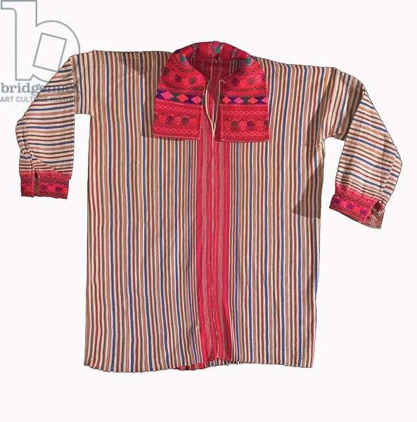 Man's Shirt [Camisa], Huehuetenango, Guatemala, c.1985 (cotton, acrylic & dye)