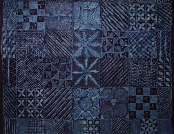Wrapper (Adire), Nigeria, (cotton & indigo dye)