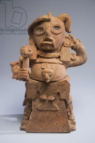 Incense burner, Guatemala, c.600-900 (ceramic & paint)