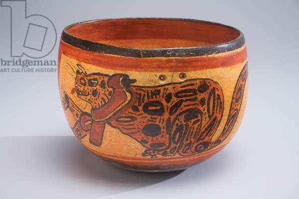 Bowl, Mexico, c.600-900 (ceramic & paint)