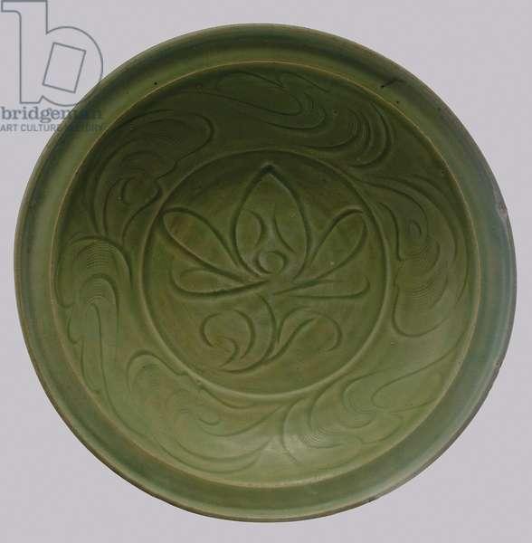 Dish (pottery & glaze)