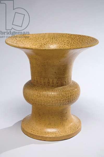Wine vessel (zun), 6th-5th century BC (high-fired pottery & glaze)