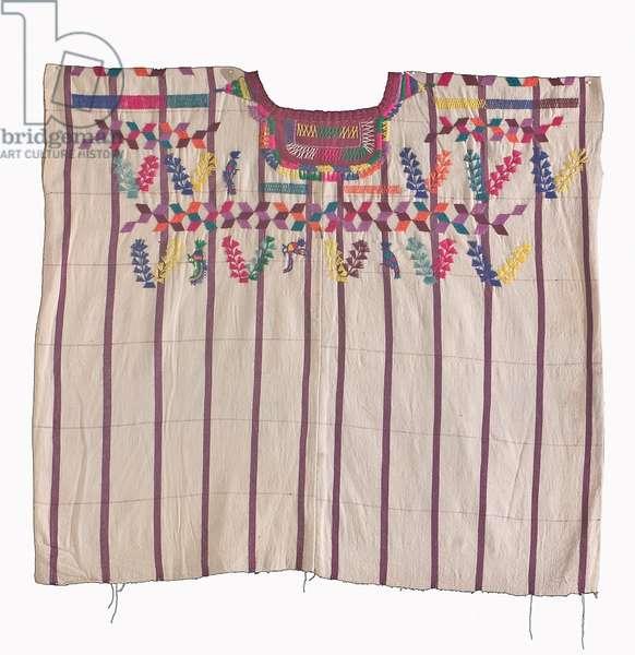 Blouse [Huipil], Solola, Guatemala, c.1960 (cotton & dye)