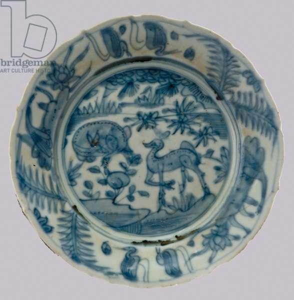 Dish, c.1573-1628 (porcelain with cobalt blue underglaze)