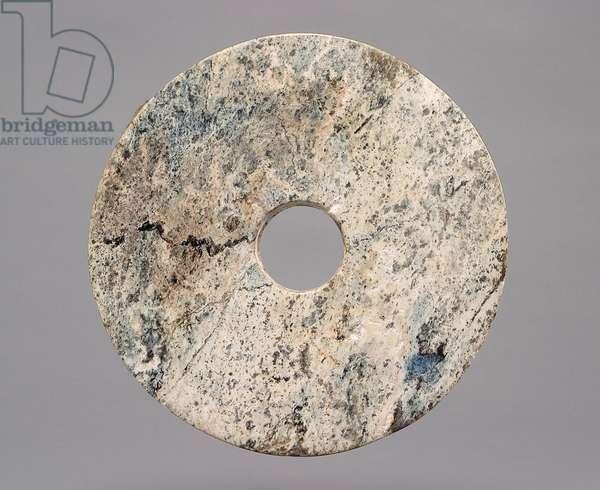 Bi Perforated Disk, c.3300-2200 BC (jade) (reverse of 410155)