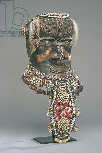 Mask (Bwoom), Shama Woto, Democratic Republic of the Congo (Bushoong clan, Kuba Kingdom), 1950s (mixed media)