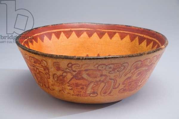 Bowl, Guatemala, c.600-900 (ceramic & paint)