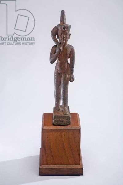 Horus the Child, c.664-332 BC (bronze) (see also 401507)