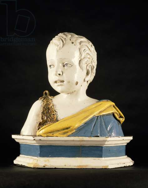 Bust of Saint John the Baptist as a Child (terracotta & glaze)