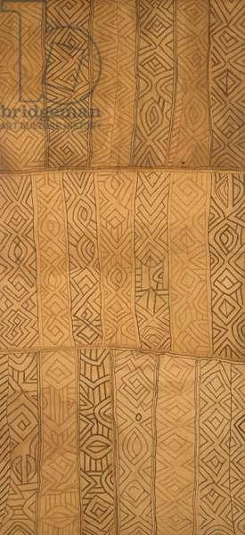 Woman's ceremonial skirt (Nshak), Kuba Kingdom (Democratic Republic of the Congo) (raffia & dye)