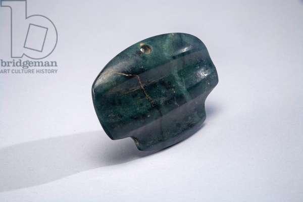 Pendant, Central Mexico, c.300 BC- 300 AD (greenstone)