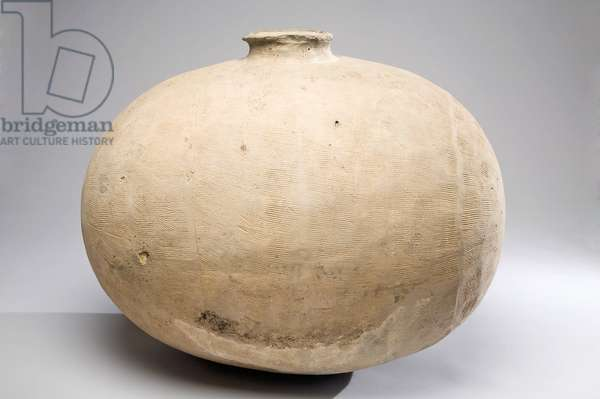 Cocoon-form jar, 4th to 3rd century BC (pottery)