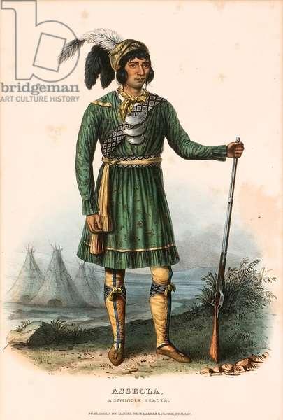 Asseola, a Seminole Leader, c.1838 (colour litho)